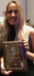 Natalia with Award